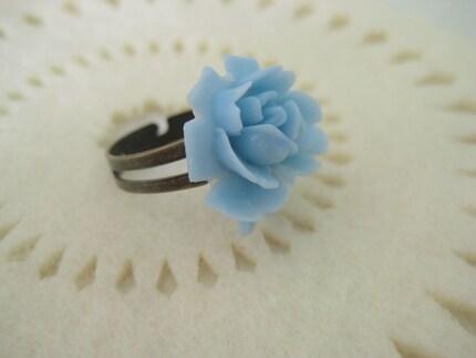 SALE cream rose adjustable ring