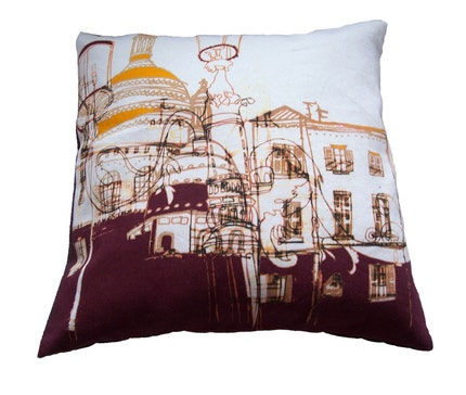 Streets of Montmartre Cushion