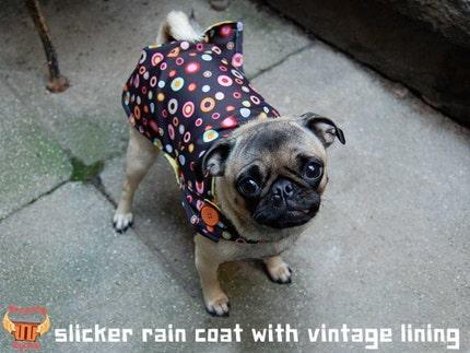Blue Paisley Upcycled Umbrella Dog Rain Coat, $30 @etsy.com