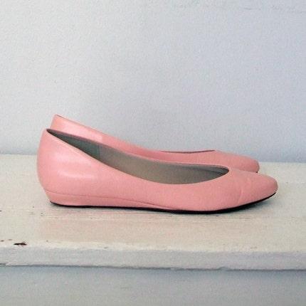 Vintage Pink Vegan Flats Size 7
