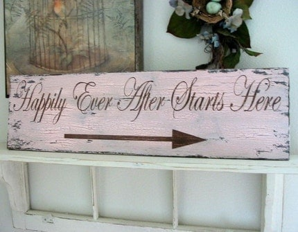 Just Happily Ever After The Wedding Blog Sunday Feature Vintage Handcrafted Wood Signs