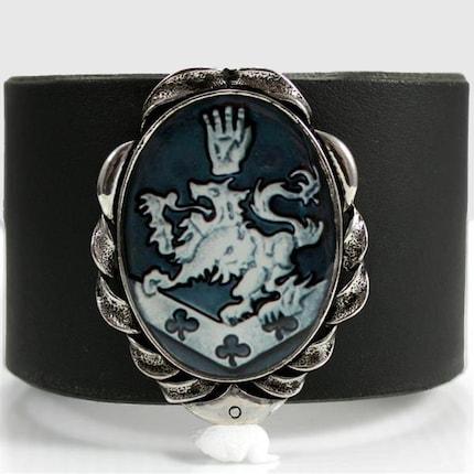 Twilight Edward Cullen Family Crest Leather Wrist Cuff