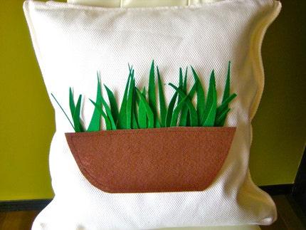Green Wheat Grass Pillow Cover 50 percent off