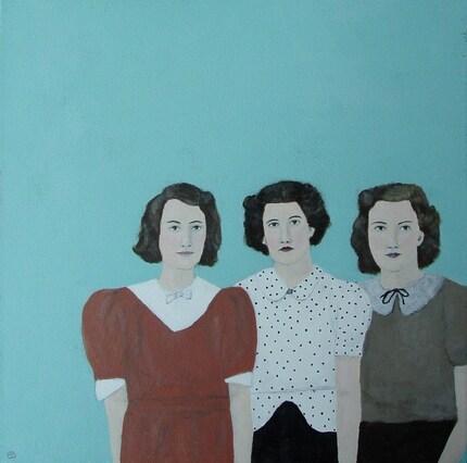 Three friends, Original Acylic Painting