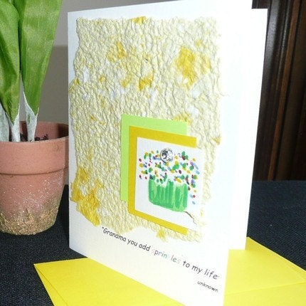 Grandmas add Sprinkles to our Lives Cupcake Mothers Day Card - by BBesigns by EtsyForCharity on Etsy