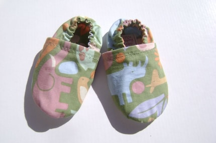 Soft Soled Baby Shoes - The Animal - 12-18 months