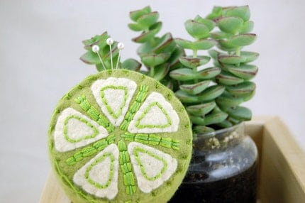 Citrus Lime Pincushion