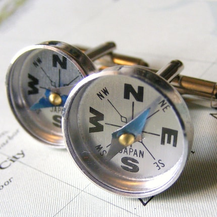 ON YOUR WAY compass cuff links