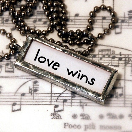 Love Wins art charm