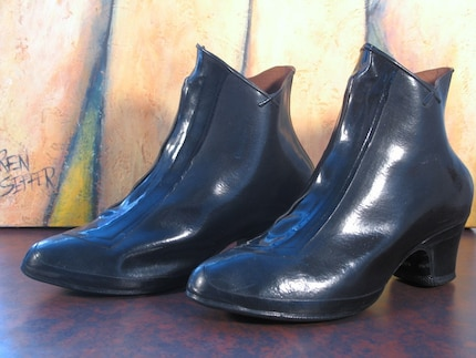 Splish Splash Vintage 50s Rubber Galoshes Rain Boots