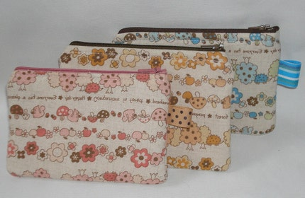 Kawaii Companions in Forest Pouches --- 3 Pack by WolfBait on Etsy from etsy.com