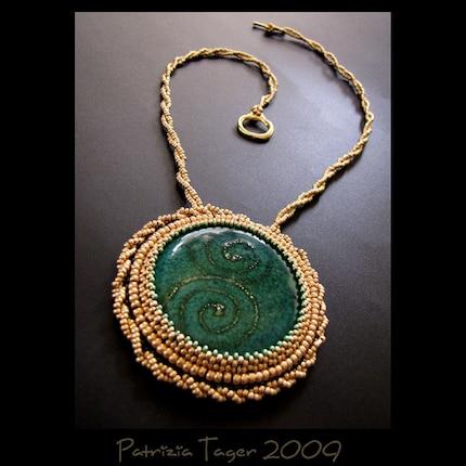 Golden Pool - Necklace OOAK