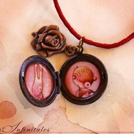 heart locket and key tattoo. Double locket - A toys memorial by infinitales
