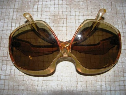 SUNGLASSES, Vintage 1970's OCULENS Sunglasses, Made in Italy, Italian Princess, 760768, Normal wear and tear, Summer Eyewear