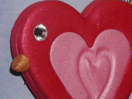 Lil Red HeartBird To Fly Your Burdens Away by itsmecheri on Etsy