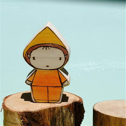 Wooden Star House Elfin Boy-Sunshine