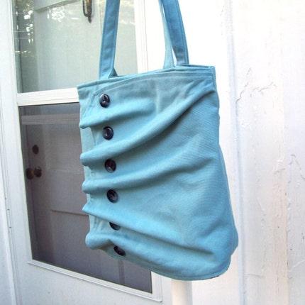 dogwood ruffle bag - blue