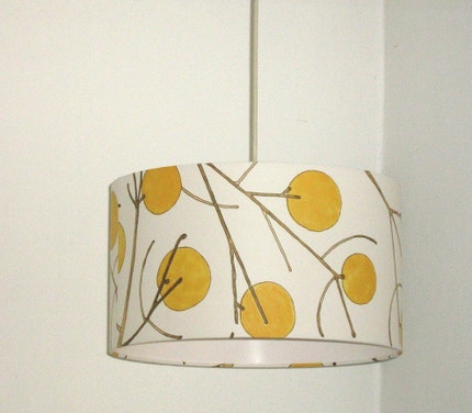 18 inch Yellow branches wallpaper lamp shade