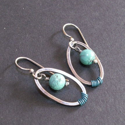 handcrafted jewelry earrings sterling silver turquoise
