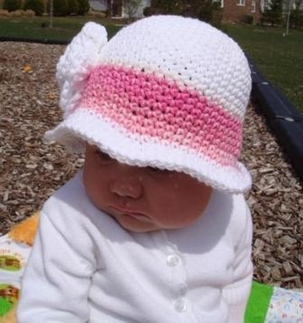 Cotton Candy Rose Cloche Size 12 to 24 Months