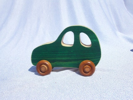 wooden car push toy