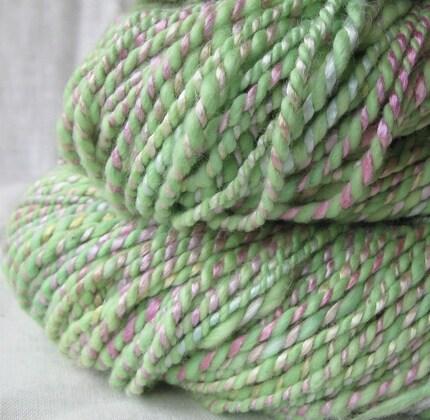 Herb Garden - handspun organic cotton bamboo vegan yarn