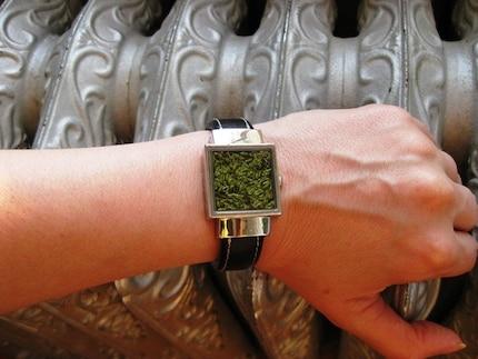 Upcycled Terrarium Bracelet Moss Watch