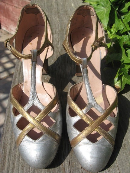 FABULOUS Deco 20s 1930s Dance Shoes- As Is by WearingHistory on Etsy from etsy.com