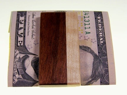 Walnut and Maple Money Clip