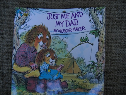 Vintage Just me and Dad Childrens Golden Book