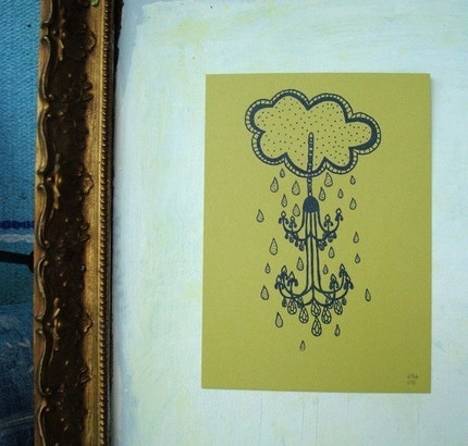 Dripping with Jewels Gocco print