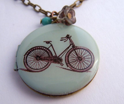 Vintage Bicycle Locket