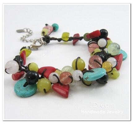 Multi Natural Stone Bracelet