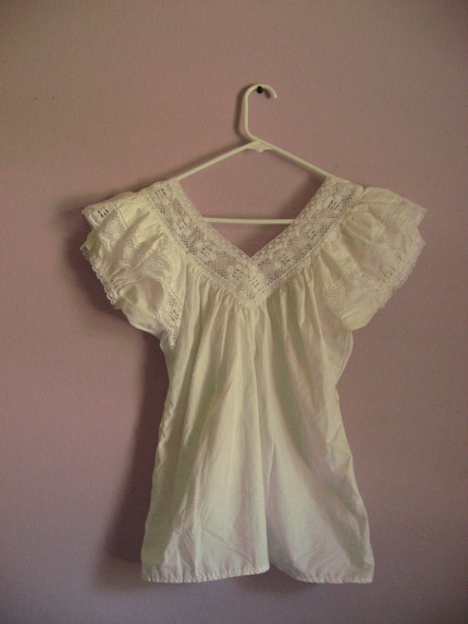 White Blouse With Peasant Sleeves 40