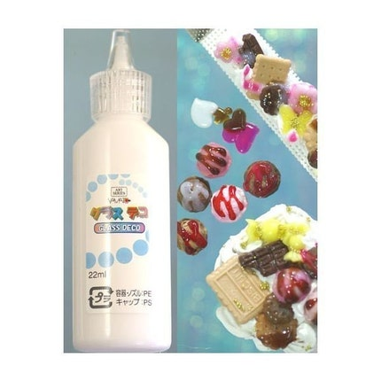 Japanese Fruits And Sweets Deco Sauce - Good For Decorating Silicon Whip Cream Clay (SNOW WHITE) - Glass Deco