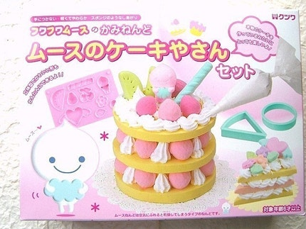 Kawaii Cute Japanese Glitter Mousse Paper Clay Cake Making Kit - Make Your Clay Cake