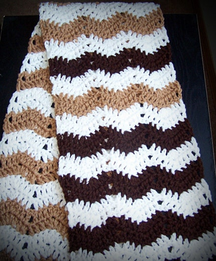Scarf--Chocolate Ripple