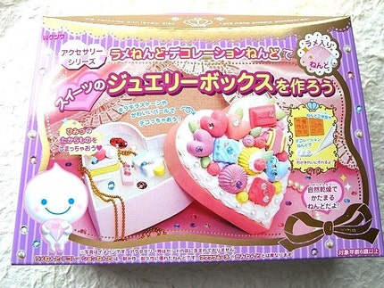 Kawaii Cute Japanese Glitter Mousse Paper Clay Sweets Making Kit - Make Handmade Glitter Clay Sweets Jewelry Box