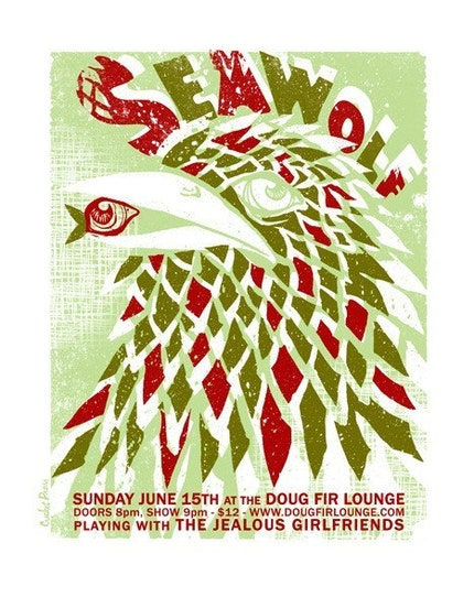 Sea Wolf - Screenprinted Gigposter