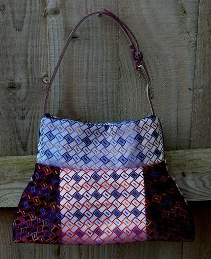 MULTI COLOURED PLEATED HANDBAG