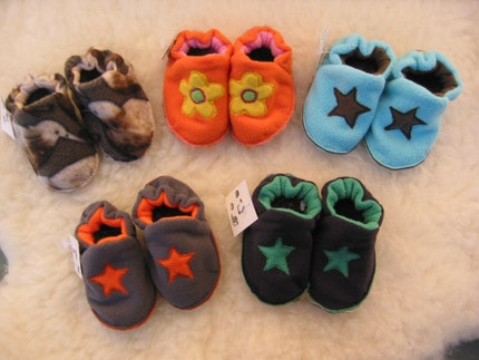 Funky Possum Fur Lined Sole Booties 6 To 12 Months