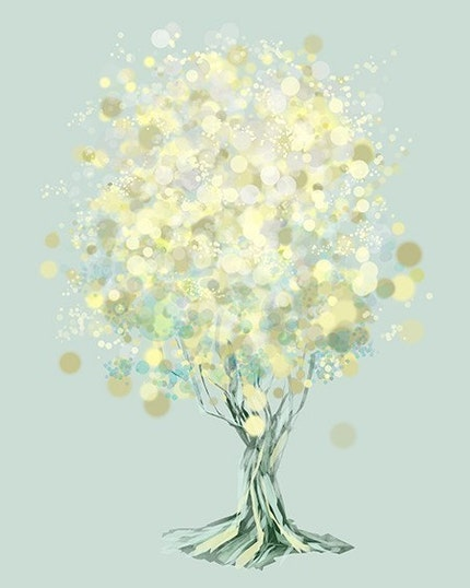 Lemon Bubble Tree by Papermoth