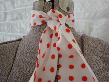 Orange Polka Dot Scarf