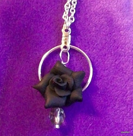gothic rose necklace