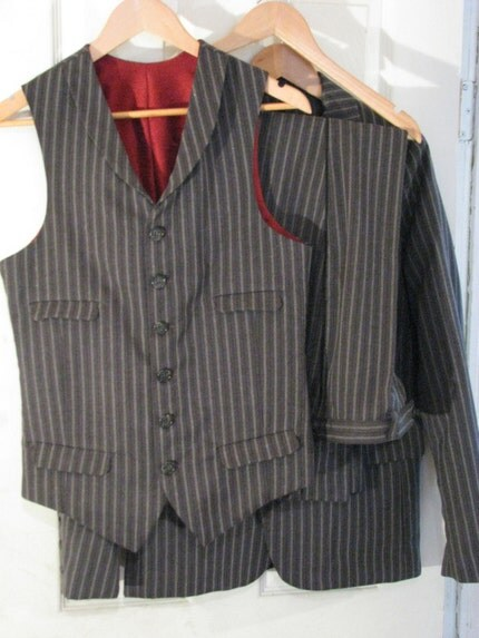 The Vegan Suit--A 3-Piece Pinstripe with Tie
