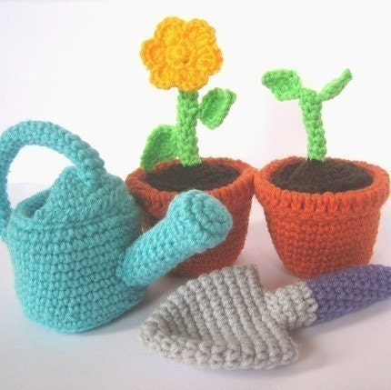 Crochet Pattern -- April Showers Bring May Flowers