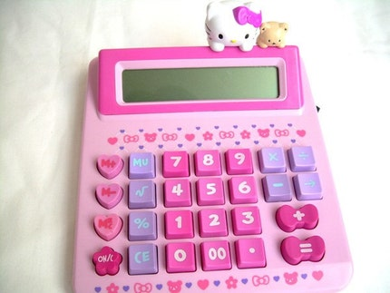 Purple Pink Cute  Kawaii Hello Kitty Calculator - Collectibles BEST SELLER