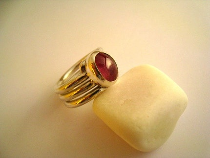 Pink Attraction - Tourmaline Ring by meltemsem on Etsy