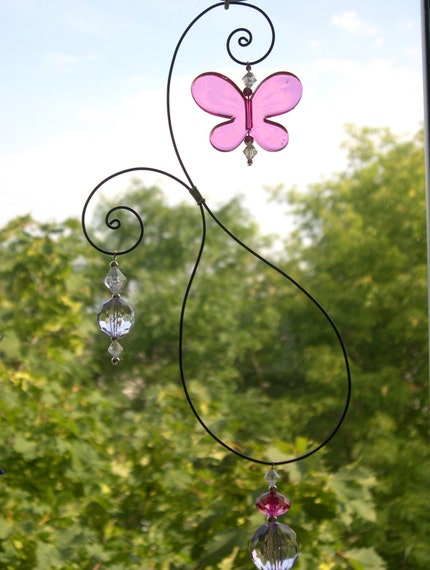 Purple Delight Butterfly Suncatcher