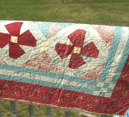 Victorian Garden - Heirloom Quilt - Twin or Lap Size Quilt